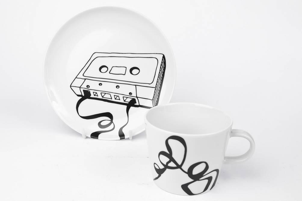 a modern schwarz wei 6mal verschieden kassette hps porzellanmalerei porzellan selbst. Black Bedroom Furniture Sets. Home Design Ideas